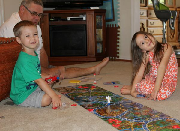"""Grandpa playing """"Eye Found It"""" with Maggie & Jacob"""