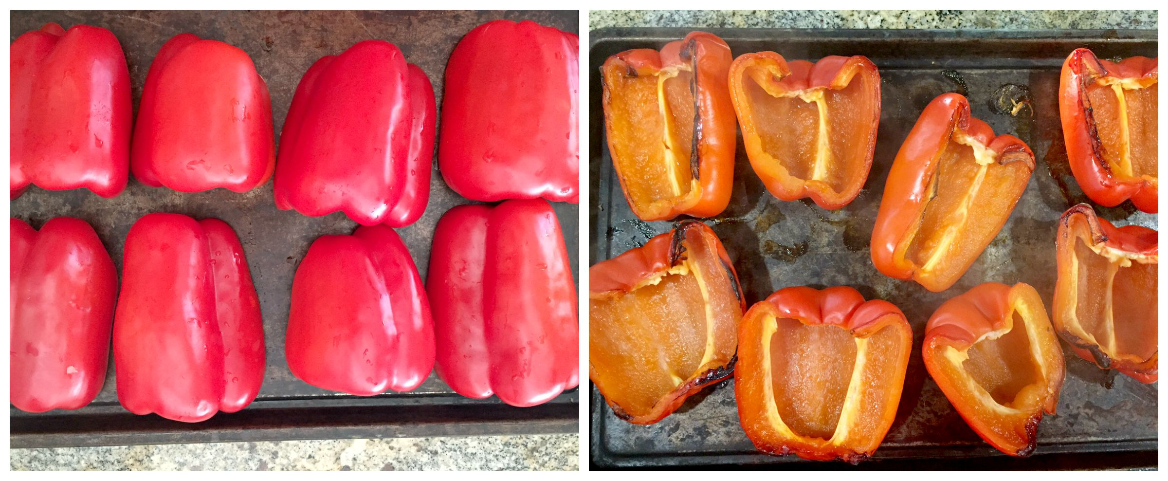 Stuffed Peppers Collage 2