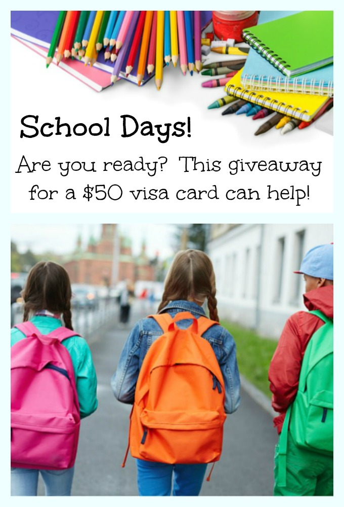 Back to School, the 60's vs Today, plus a $50 Visa ...